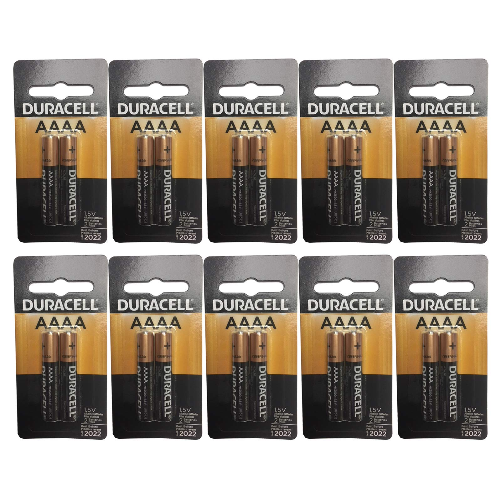 10x Duracell Ultra 1.5V AAAA Alkaline Batteries Glucose Blood Pressure Monitors