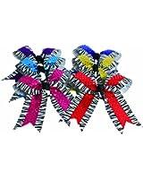 Zebra w/Sequin Hair Bow, Royal