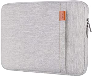 Lacdo 13.3 Inch Laptop Sleeve for 13 Inch MacBook Air | MacBook Pro Retina 2012 - Early 2016 | 12.9 Inch iPad Pro | Surface Book | 360° Protective HP Dell ASUS Chromebook Case, Water Repellent, Gray