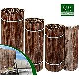 Brise vue canisse casa pura® | 100% produit naturel - clôture en bois de saule résistant | tailles au choix, 100x500cm