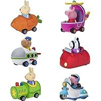 Peppa Pig Free-Wheelin' Friends Mini Buggies – 6 Pack Bundle, Peppa Helicopter, George Police Cruiser, Rebecca Rabbit…