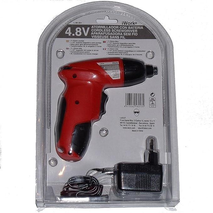 Atornillador electrico 4.8v destornillador inalámbrico ...