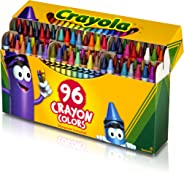 Crayola 52-0096 520096 Classic Color Crayons in Flip-Top Pack with Sharpener, 96 Colors, 96 count, Assorted