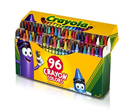 amazon com crayola crayons with built in sharpener 96 ct toys