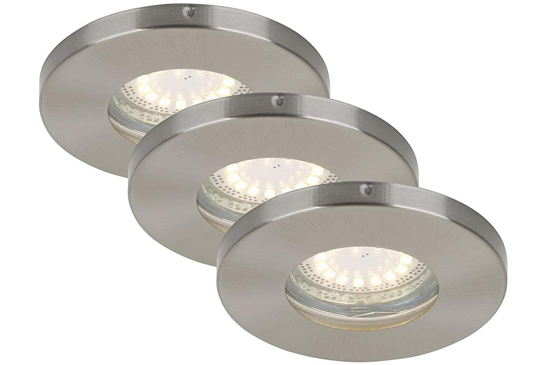 Briloner Leuchten LED Einbauleuchten 3-er Set, Einbaustrahler, Bad ...