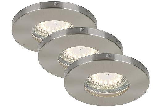 Briloner Leuchten LED Einbauleuchten 3 Er Set, Einbaustrahler, Bad  Geeignet, Matt