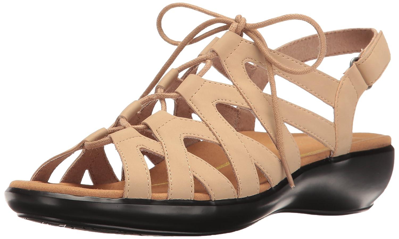 Rockport Women's Rozelle Ghille Wedge Sandal B01J3CGLXK 11 B(M) US|Taupe Faux Nubuck