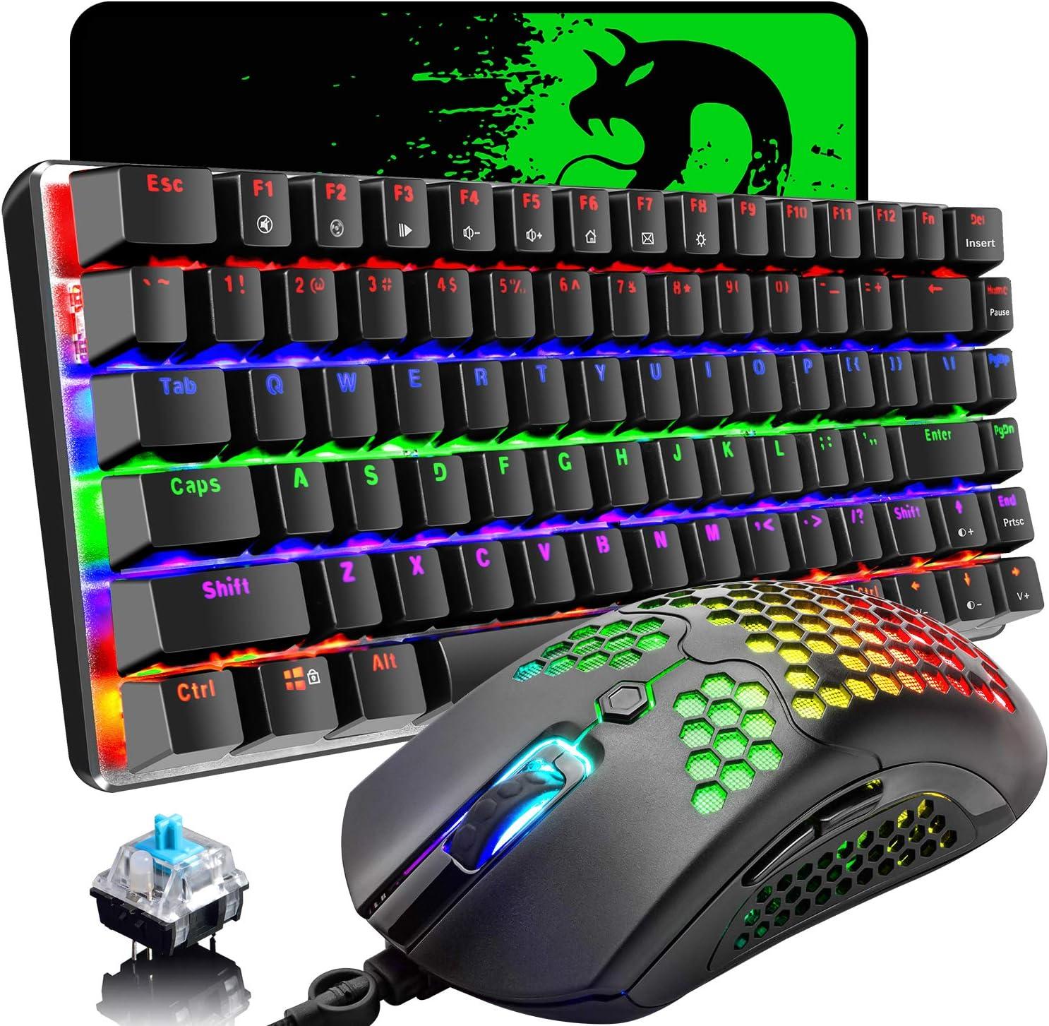 DADUIZHANG Profession Game MechanicalHot Swap Keyboard Gaming Mouse Keyboard Combo Mouse Set /Mouse Keyboard Black