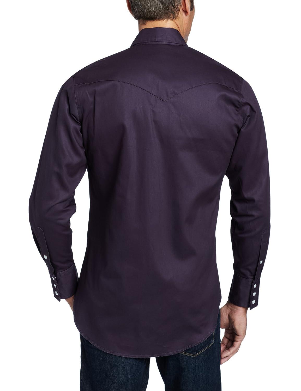 acc55207e03 Wrangler Men s Authentic Cowboy Cut Work Western Long-Sleeve Shirt at  Amazon Men s Clothing store  Athletic Shirts