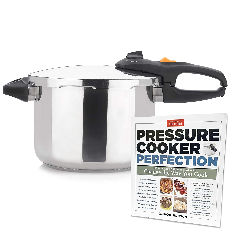 Zavor DUO 8.4 Quart Pressure Cooker with America's Test Kitchen Pressure Cooker Perfection Cookbook