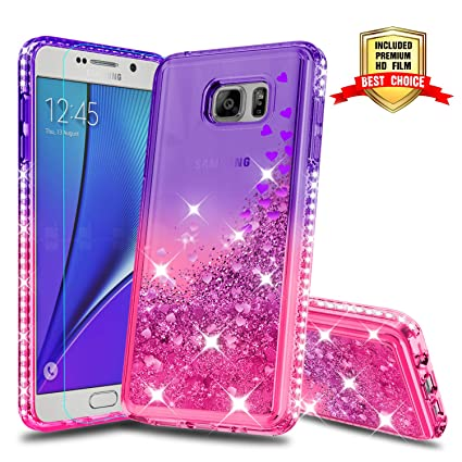 3d0f66c9ce Galaxy Note 5 Case Galaxy Note 5 Cases with HD Screen Protector, Atump Fun  Glitter