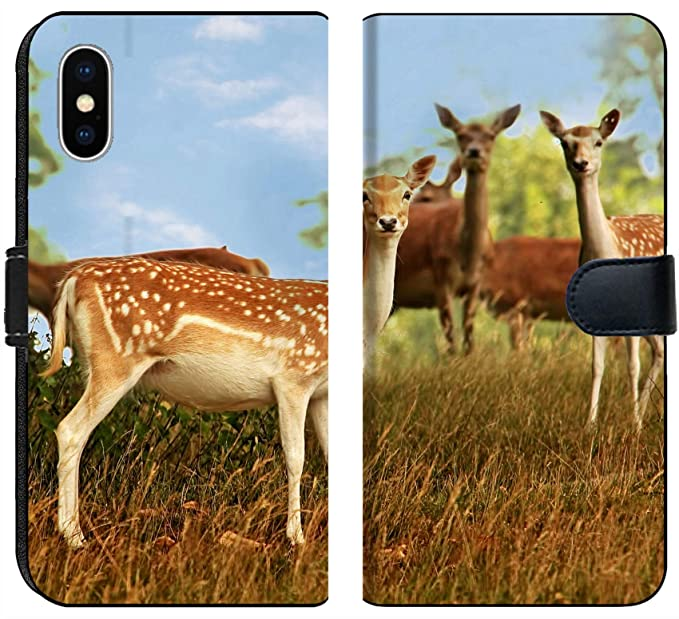 eb1e4b4f69ce Amazon.com  Apple iPhone X Flip Fabric Wallet Case A Small Herd of ...