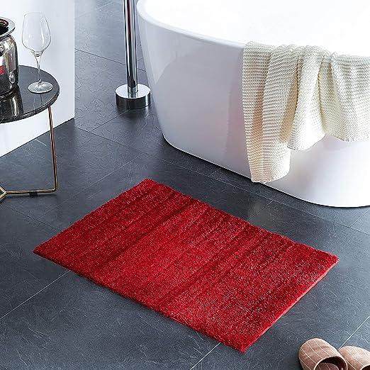 Plush Bath Mat For Bathroom Machine Wash Dry Living Room And Laundry Room 20x32 Red Bathroom Rug Mat Bath Rug Mat Ultra Soft And Water Absorbent Bath Rug