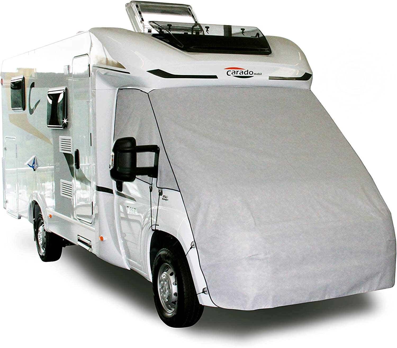 Unbekannt Hindermann Reisemobil Bugschutzplane Abdeckplane Reisemobil Schutzplane Schutzhülle Sichtschutz Grau Auto