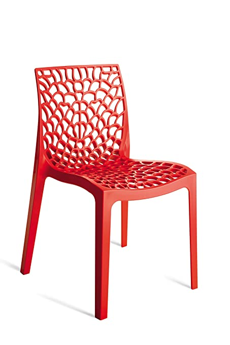 Stupendous Amazon Com Creative Furniture Gruvyer Dining Chair Red Unemploymentrelief Wooden Chair Designs For Living Room Unemploymentrelieforg