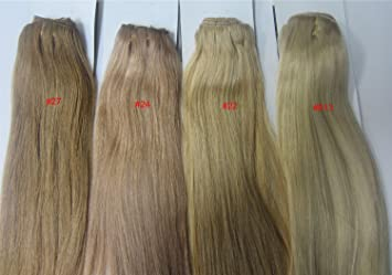 Amazon 18 clip in human hair extensions 10pcs 100g color 18quot clip in human hair extensions 10pcs 100g color 22 pmusecretfo Image collections