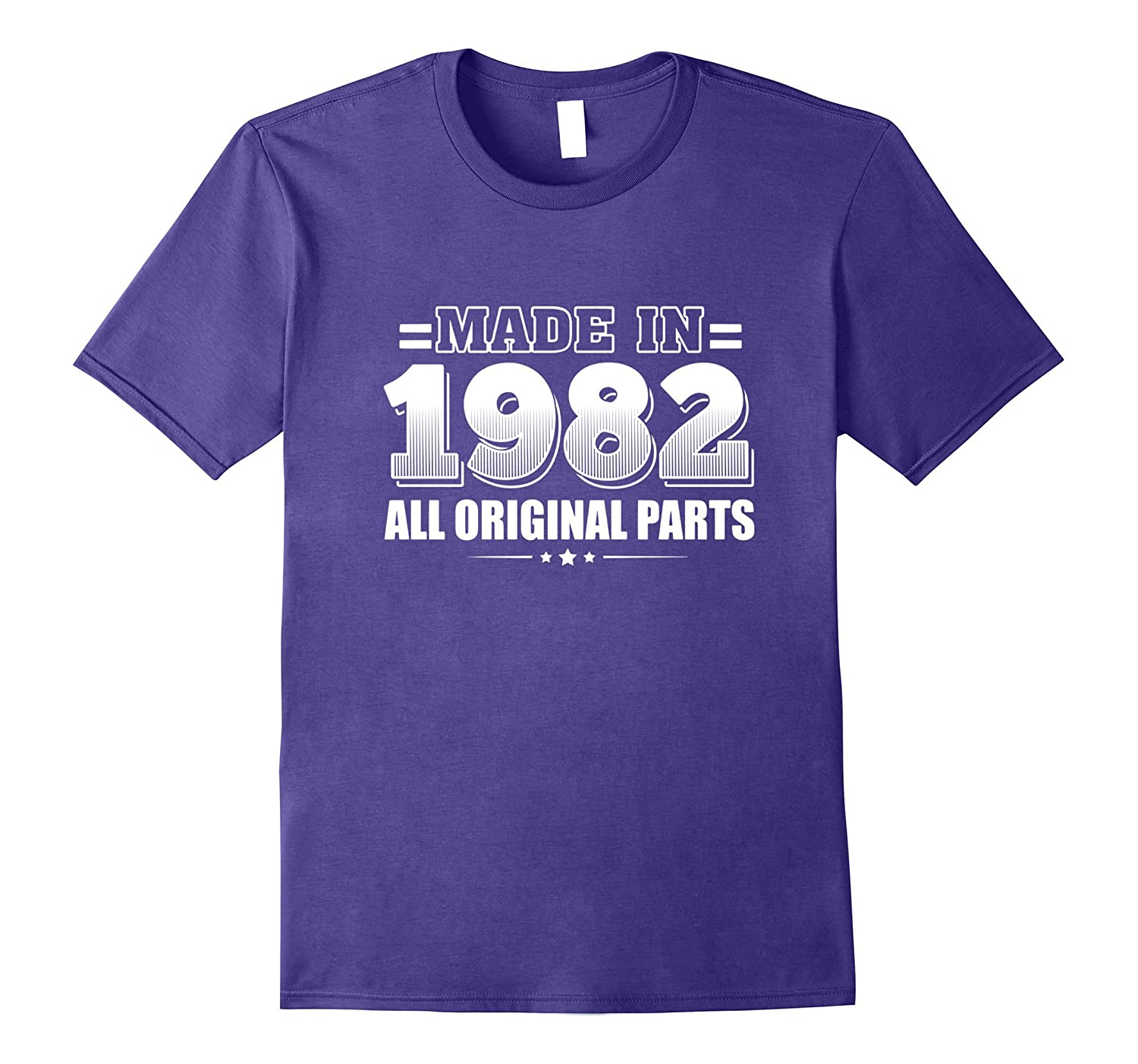 Made in 1982 All Original Parts T-shirt - 35th Birthday Gift-Vaci