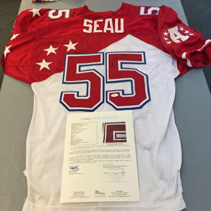 Autographed Junior Seau Jersey - Rare Game Model 1997 Pro Bowl Wilson COA -  JSA Certified 219bf5309
