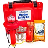 WindRider USCG Boating Safety Kit - Electronic Flare - First Aid Kit - Whistle - Multi Tool - Waterproof Case