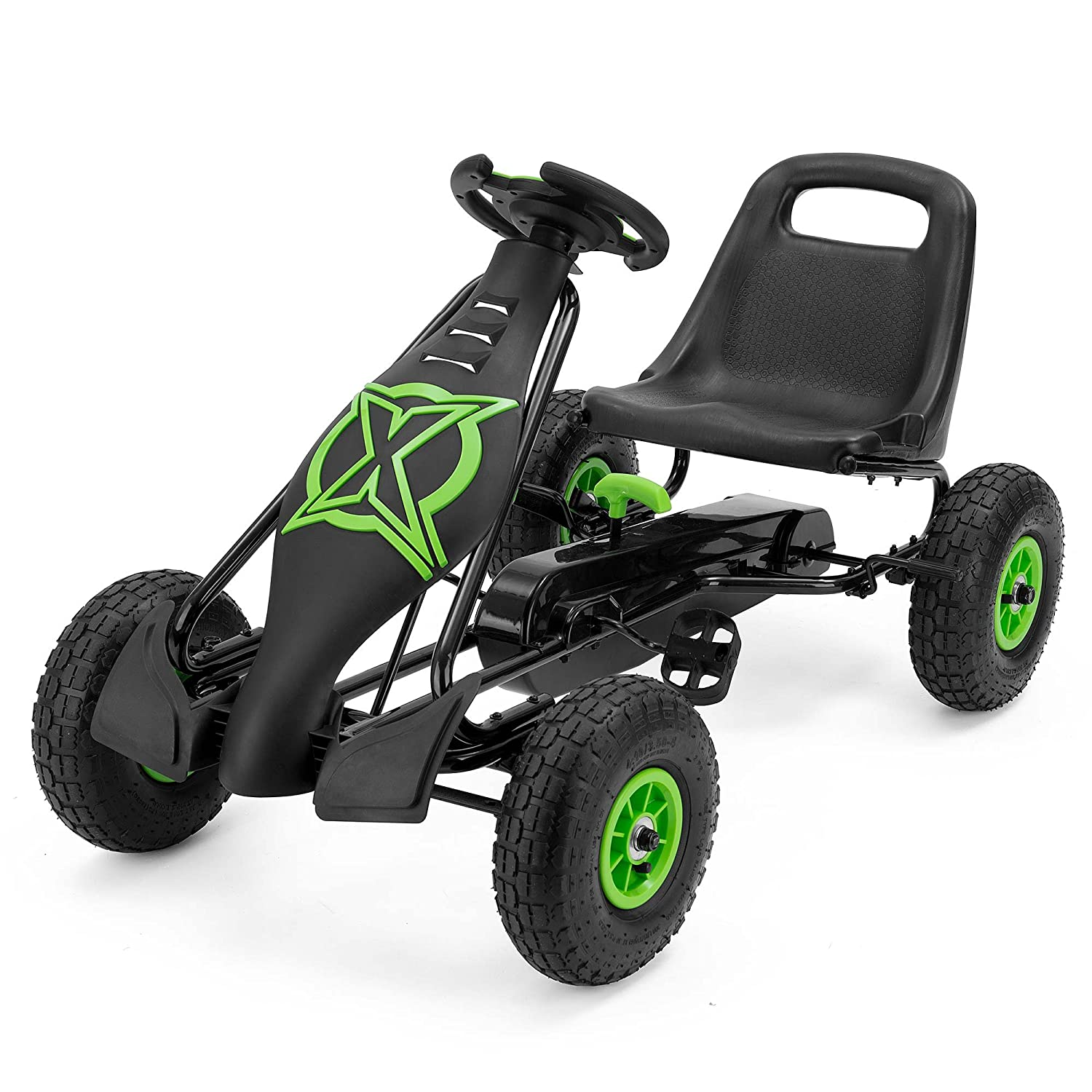 Xootz Viper Racing Go Kart, Kids Ride On Pedal Car with Gear Stick