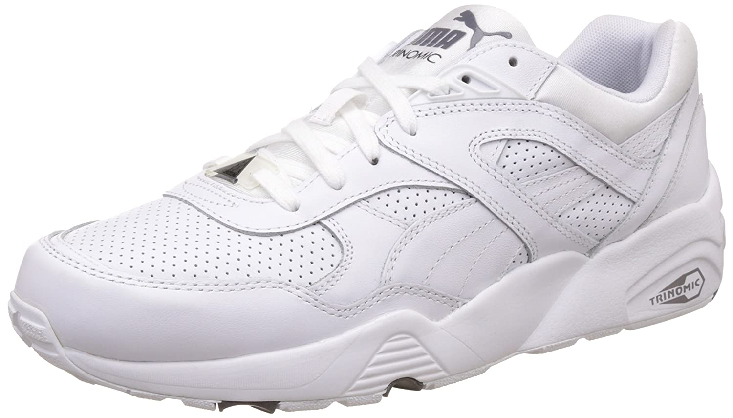 c5a1c69513b4 Puma Unisex R698 Core Leather Sneakers  Buy Online at Low Prices in India -  Amazon.in