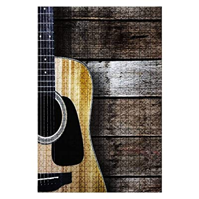 1000 Pieces Wooden Jigsaw Puzzle Guitar Guitar Stock Pictures Royalty Free Photos Images Fun and Challenging Board Puzzles for Adult Kids Large DIY Educational Game Toys Gift Home Decor: Toys & Games