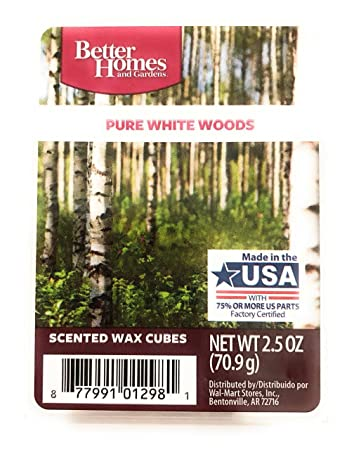 excellent better homes and gardens scented wax cubes. Better Homes and Gardens Scented Wax Melts  PURE WHITE WOODS Scent Amazon com