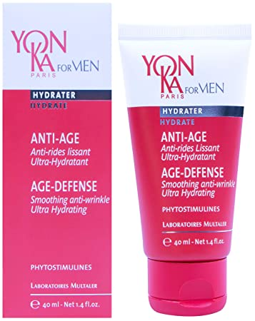 Yonka For Men Age-Defense Line Prevention, Ultra-Hydrating 1.72 Ounce 50 Milliliter – Ultra-Moisturizing Anti-Aging Gel-Cream Designed For Men That Delays the Effects of Aging