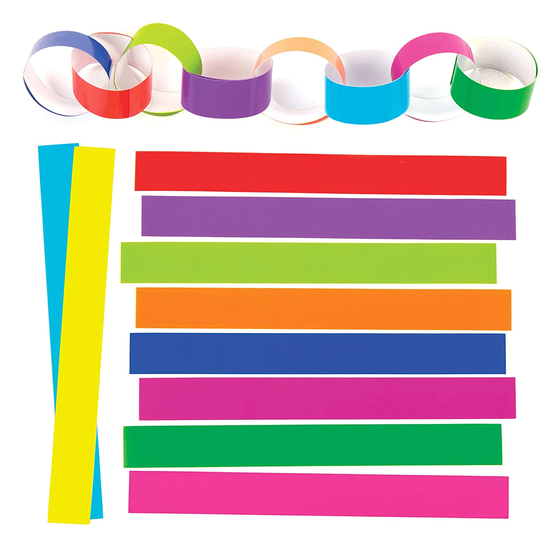 Baker Ross Festive Paper Chains Pack 240 For Kids Christmas