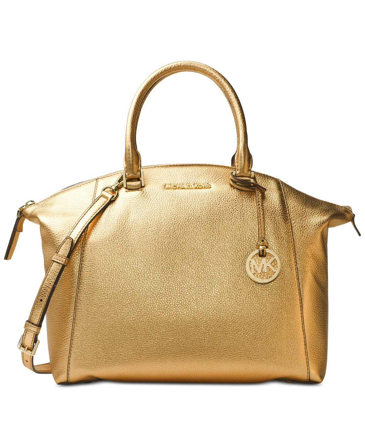 MICHAEL Michael Kors Riley Large Satchel (Gold)