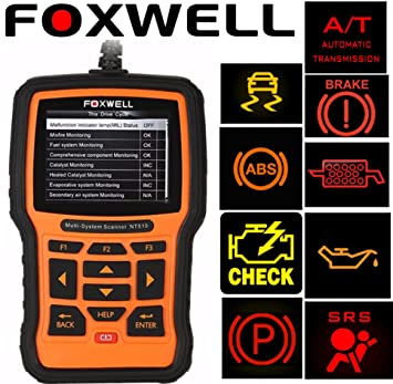 Foxwell NT510 Scanner For TOYOTA Prius OBD2 Diagnostic Scan Tool Check  Engine Light, Oil Service