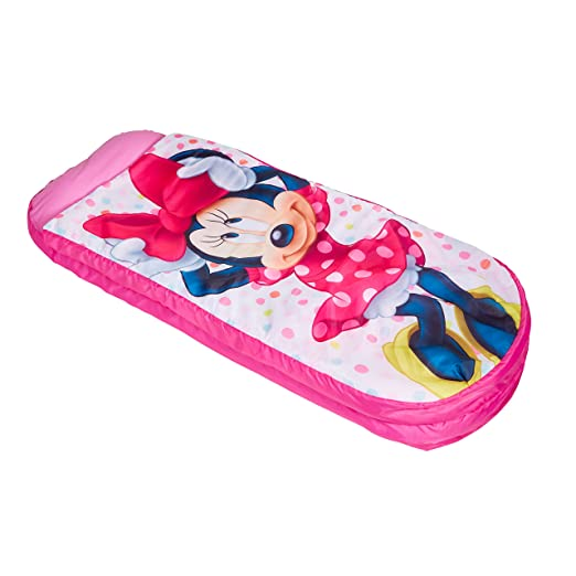 Readybed Minnie Mouse Cama Hinchable y Saco de Dormir Infantil Dos en Uno, Poliéster, Rosa, Individual, 150 x 62 x 20 cm