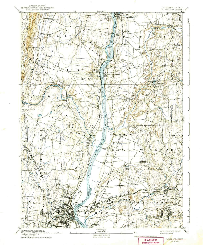 Topographic Map Ct.Amazon Com Yellowmaps Hartford Ct Topo Map 1 62500 Scale 15 X 15