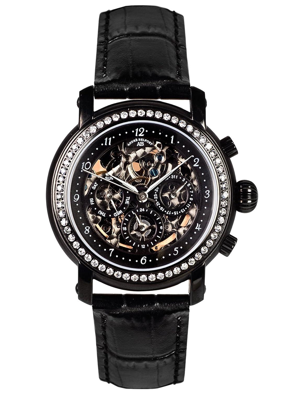 AndrÉ Belfort Damen-Armbanduhr Intemporelle Ip Black Leder 410143