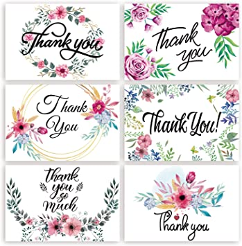 Thanks for Being Lovely Hand Lettered Turquoise Thank You Greeting Card A2 BC018 Made in USA Box Set of 8 Floral Pattern