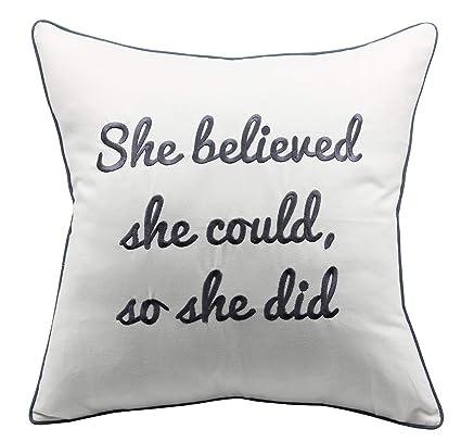 Amazon.com: YugTex - Fundas de almohada bordadas para regalo ...