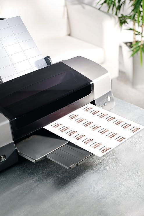 pour jet dencre//laser//copieur blanc format 7 x 3,7 cm SIGEL LA138-600 /étiquettes multifonctions 25 feuilles