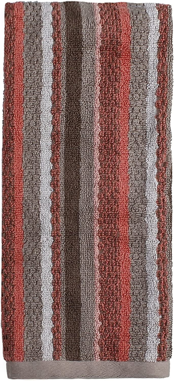 SKL Home Coral Garden Stripe Hand Towel, Coral