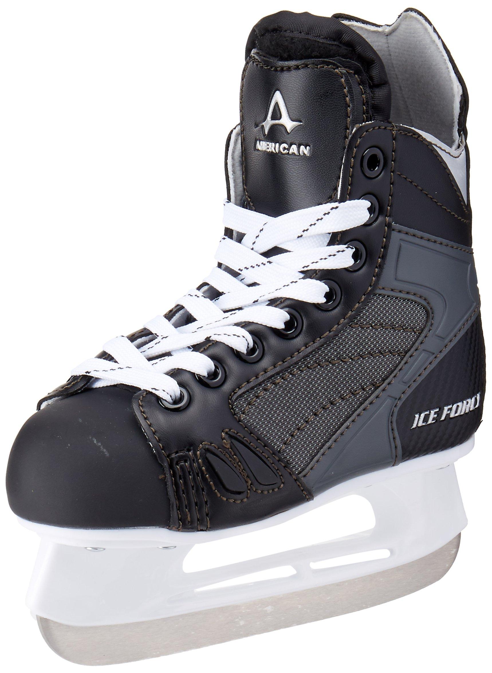 American Athletic Shoe Boy's Ice Force Hockey Skates, Black, 1 Y by American Athletic