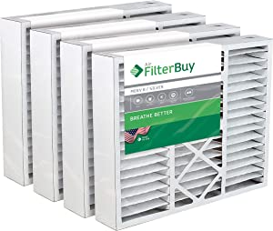 FilterBuy 20x20x5 Honeywell FC35A1019, FC100A1011, FC200E1011 Compatible Pleated AC Furnace Air Filters (MERV 8, AFB Silver). Also replaces Lennox X0585, X8305, X8308. 4 Pack.
