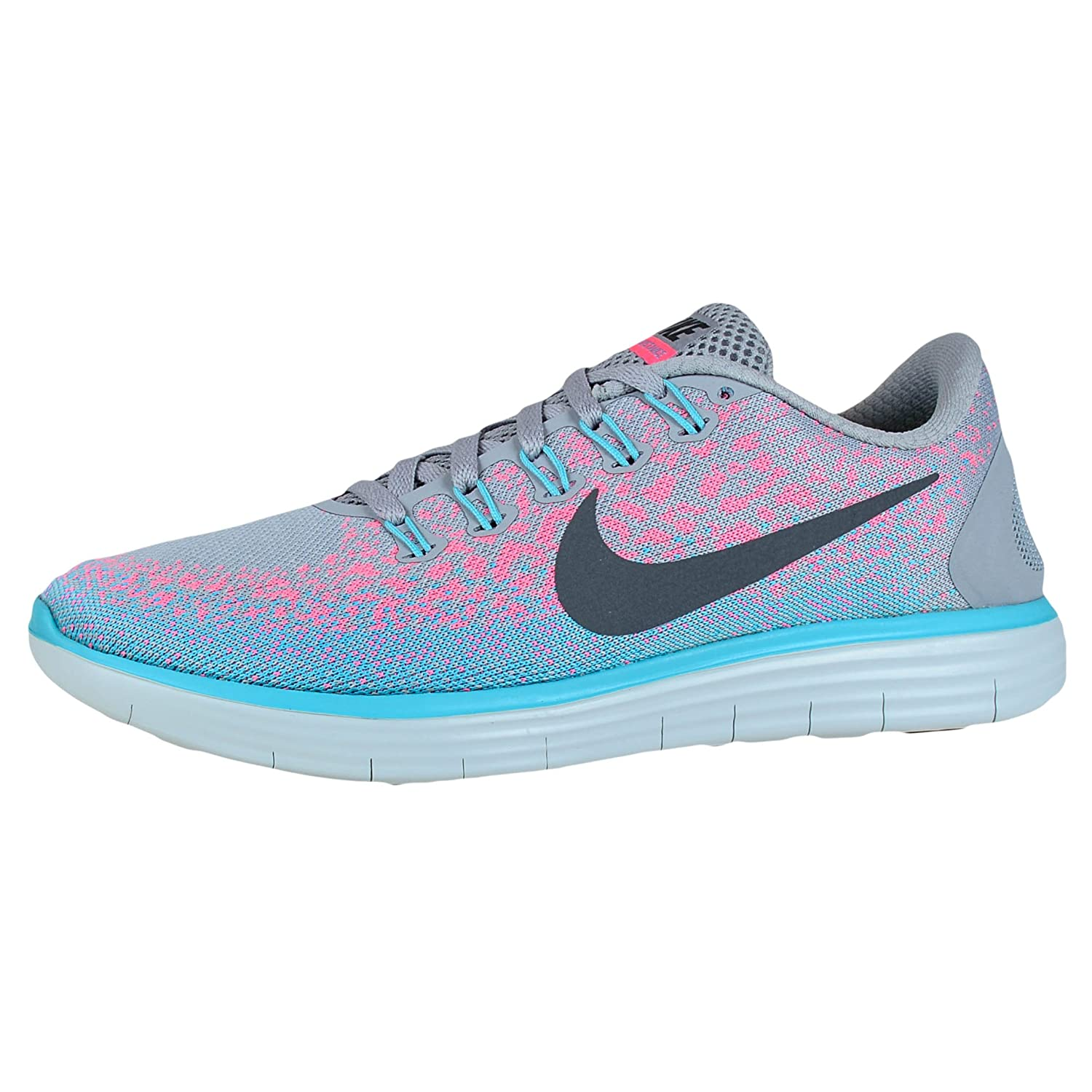 newest e73e3 305bd Amazon.com   Nike Womens Free Rn Distance Wolf Grey Dark Grey Pink Blast  Running Shoe 5 US   Road Running