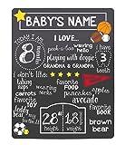 Tiny Ideas Baby's Monthly Chalkboard, Boy, Black