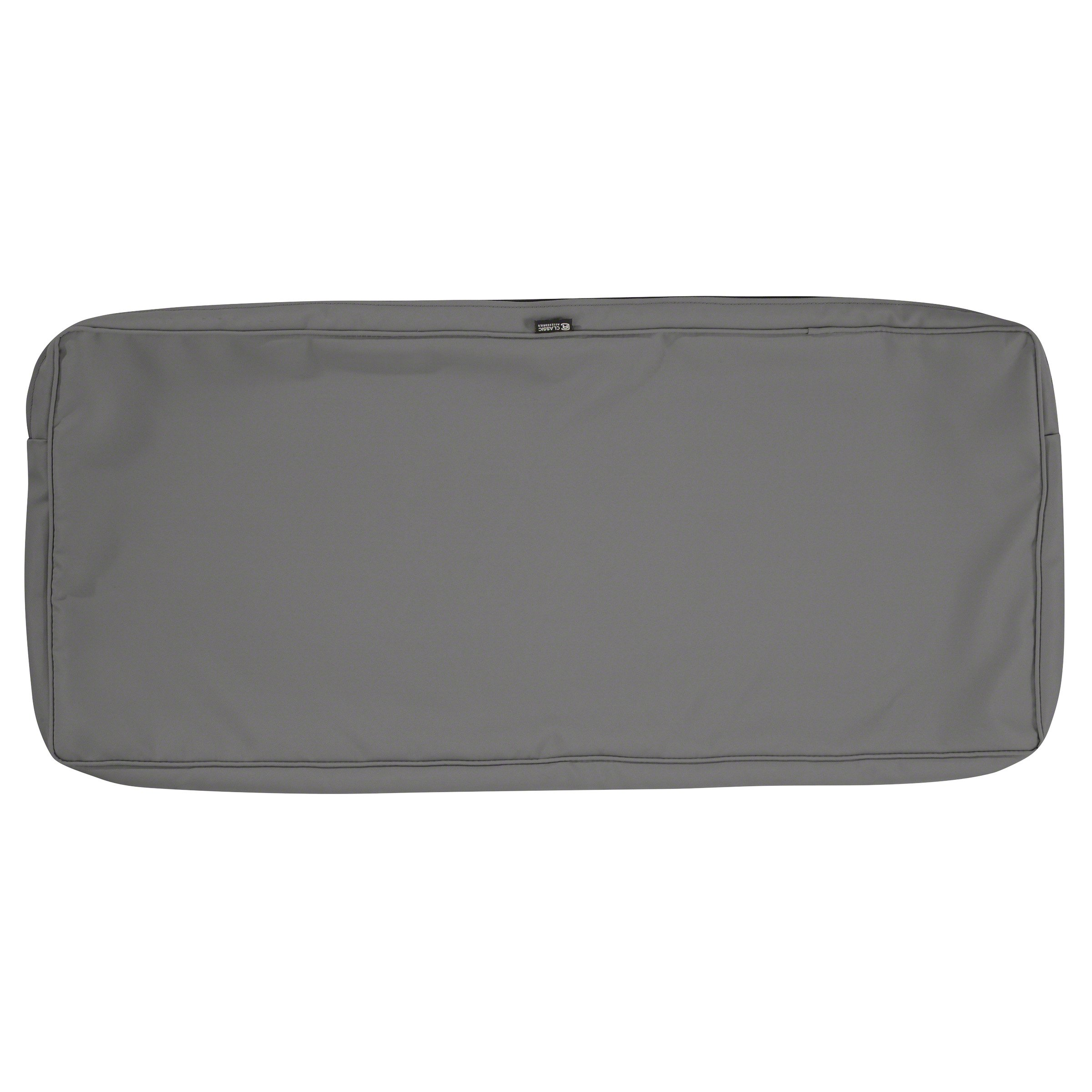 Classic Accessories Montlake Patio Bench Seat Cushion Slip Cover, Light Charcoal, 48x18x3