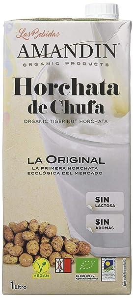AMANDÍN Horchata de Chufa Ecológica - Paquete de 6 x 1000ml - Total 6000ml