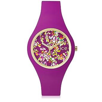 3ef69498809b3 Ice-Watch - Ice Flower Wonderland - Montre Violette pour Femme avec Bracelet  en Silicone