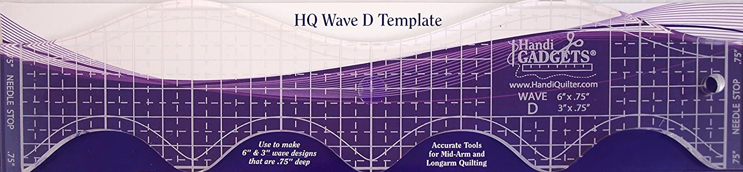 Handi Quilter Wave D Template