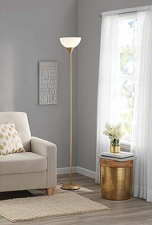 Mainstays metal floor lamp gold amazon mainstays metal floor lamp gold aloadofball Image collections