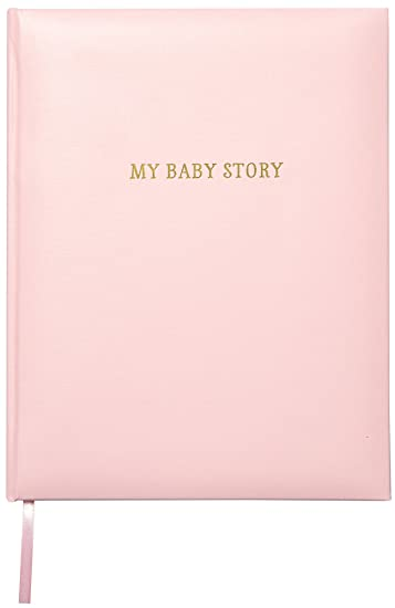 382a45c39 C.R. Gibson Perfect-Bound Pink Leather Memory 64 Pages Book for Newborn and  Baby Girls
