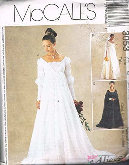 Amazon Com Mccall S 3053 Bridal Gown Wedding Gown Bridesmaid