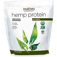 Nutiva Organic Cold-Pressed Raw Hemp Seed Protein Powder, Hi-Fiber, 3 Pound   USDA Organic, Non-GMO   Whole 30 Approved…